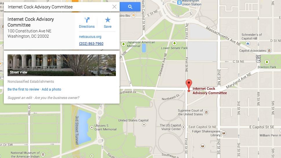 Listagem falsa no Google Maps