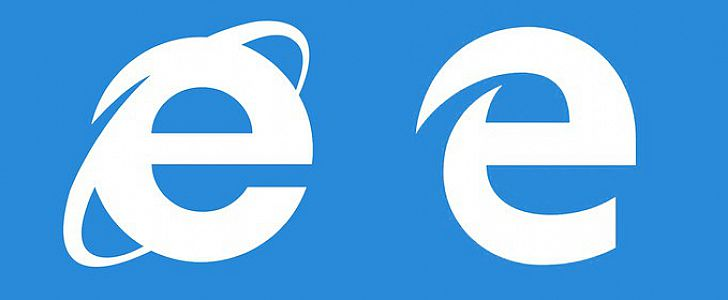 Logotipo do Microsoft Edge e Internet Explorer