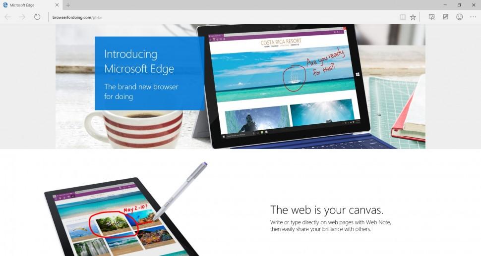 Microsoft Edge - captura de tela