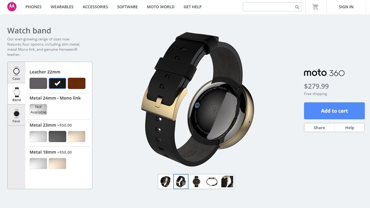 Moto 360 Maker - dourado