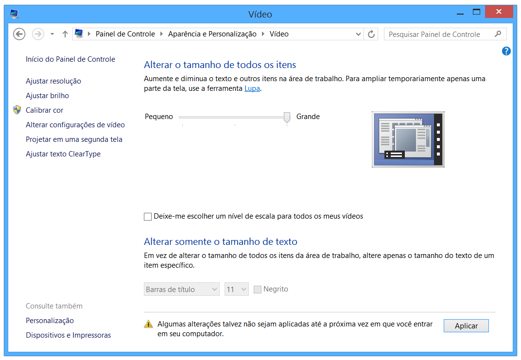 Mudar DPI no Windows