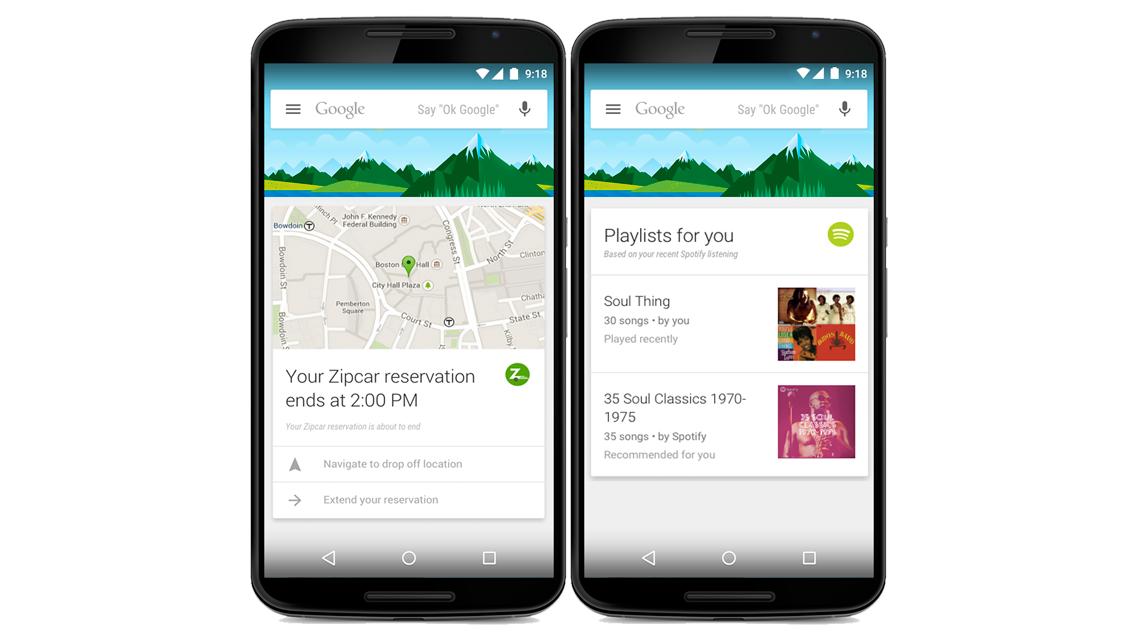 Google Now fica mais esperto trazendo informações de 100 apps de terceiros
