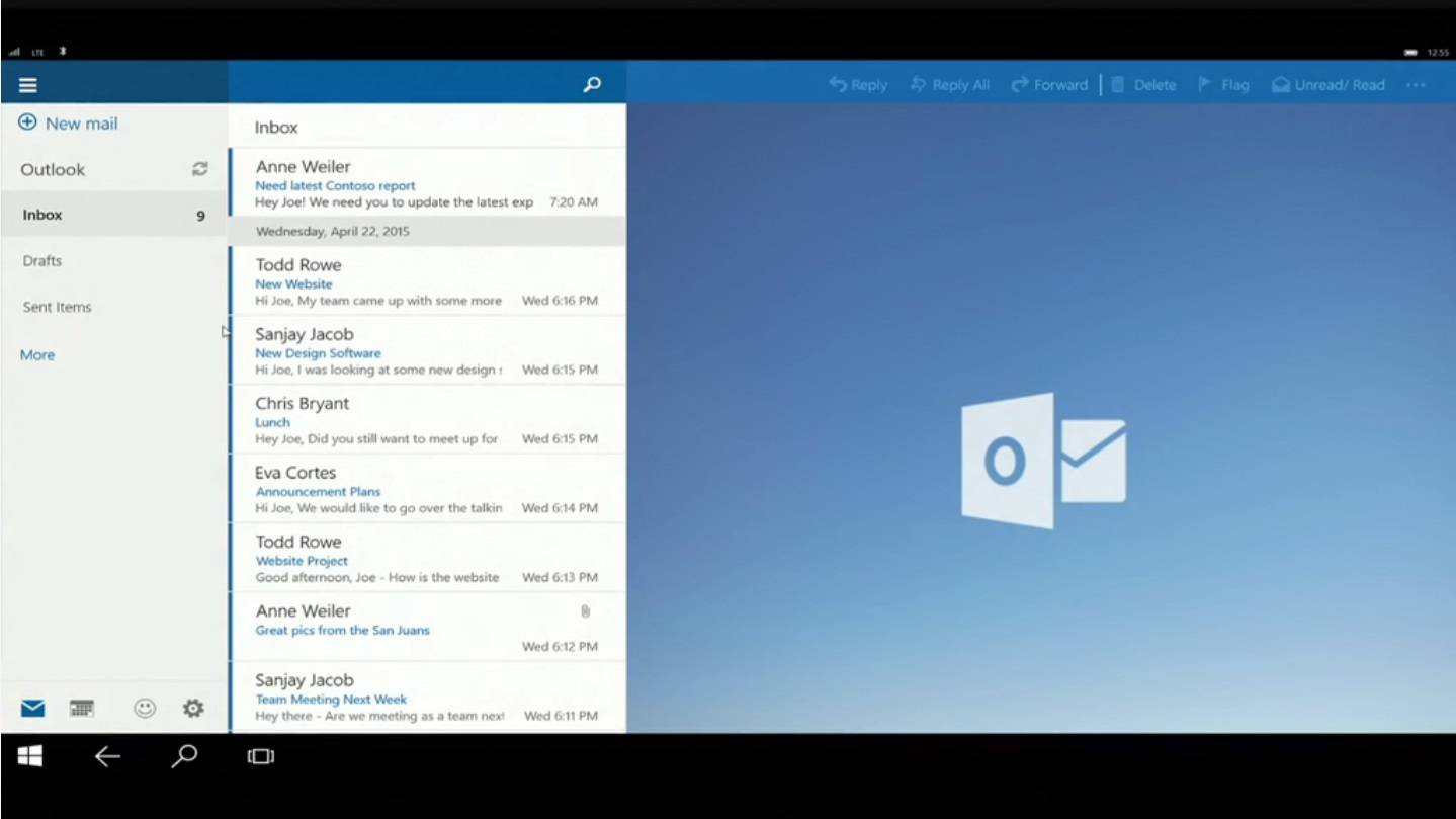 Windows 10 - Continuum e Outlook