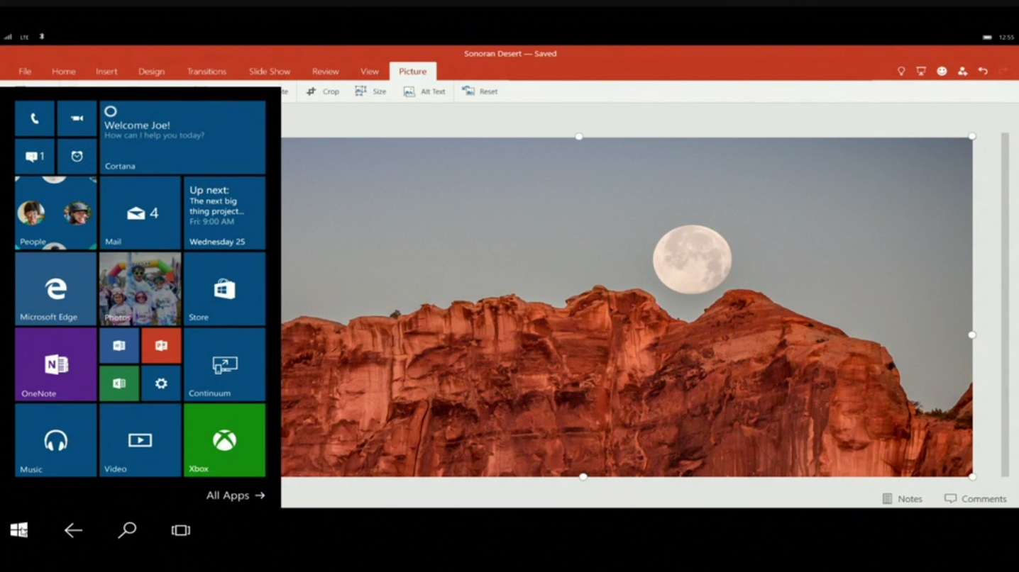 Windows 10 - Continuum e PowerPoint