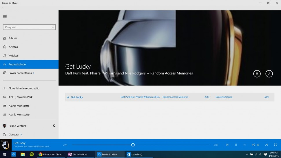 Windows 10 na Build - Musica