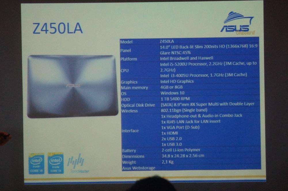 Asus Z450LA