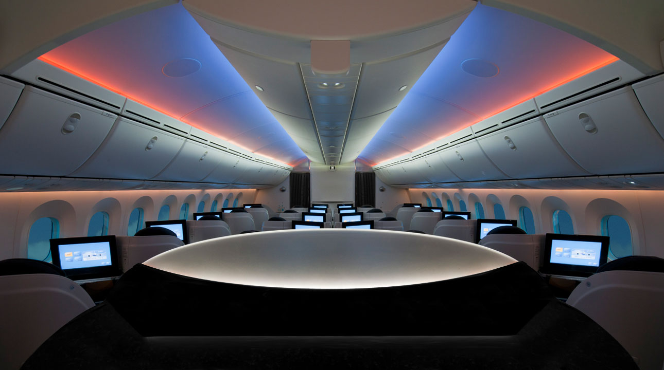 Assentos do Boeing 787 Dreamliner