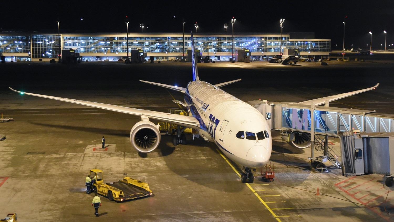 Boeing 787 Dreamliner no aeroporto