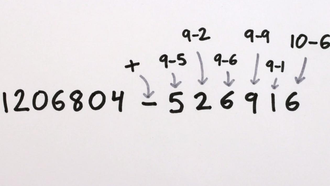 Este método curioso usa soma para fazer subtrações