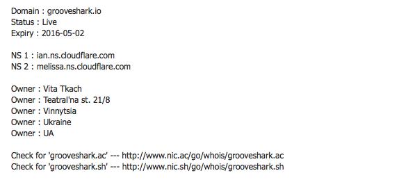 Grooveshark de volta - Whois