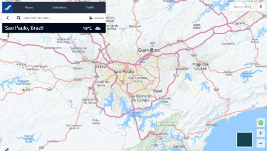 Here Maps em Sao Paulo