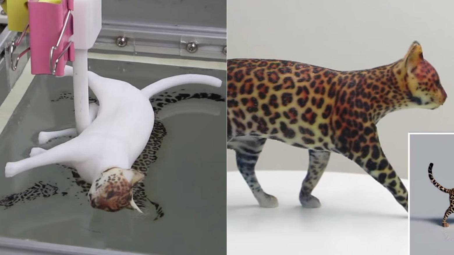 Esta técnica permite mergulhar objetos para pintá-los com uma precisão incrível