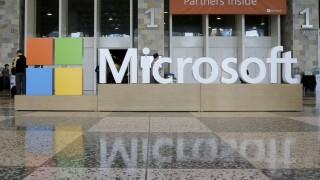 Microsoft e logotipo na BUILD