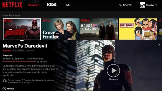 Netflix - nova interface (1)