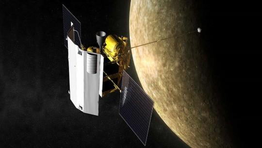 Sonda Messenger em Mercurio