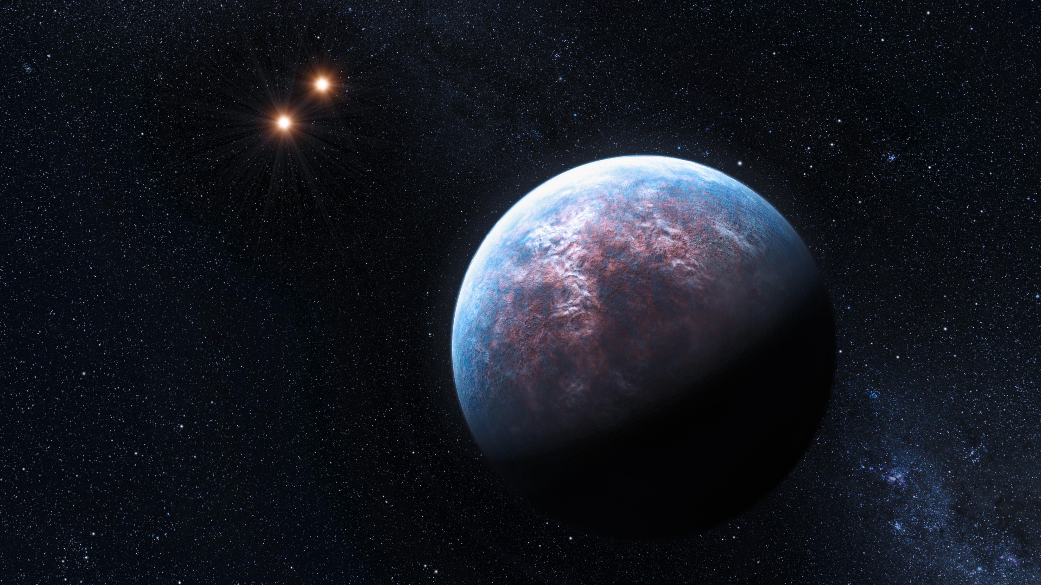 Conceito artístico de um planeta circundando Gliese 667Cb Imagem: ESO/L. Calcada