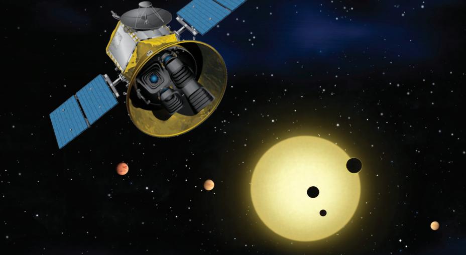 Conceito artístico do TESS. Imagem: NASA