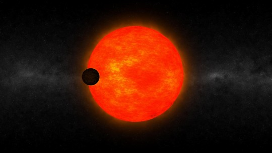 Planeta HATS-6b passando próximo à estrela HATS-6