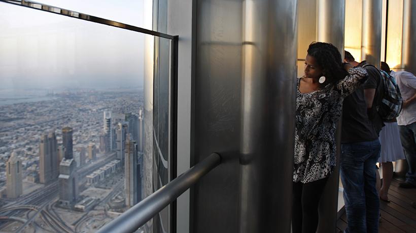 Pátio de observação do Burj Khalifa