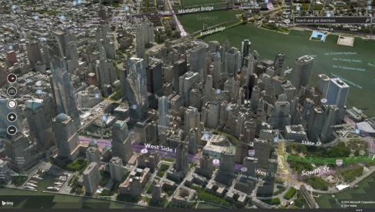 Bing Maps e Nova York em 3D