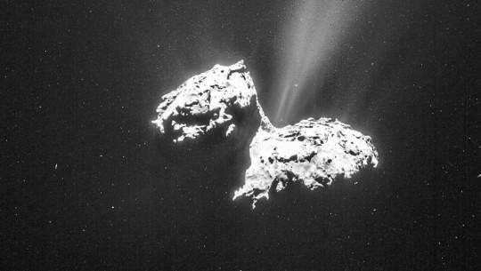 Cometa 67P/C-G a 124 km de distância. (ESA/Rosetta/NAVCAM)