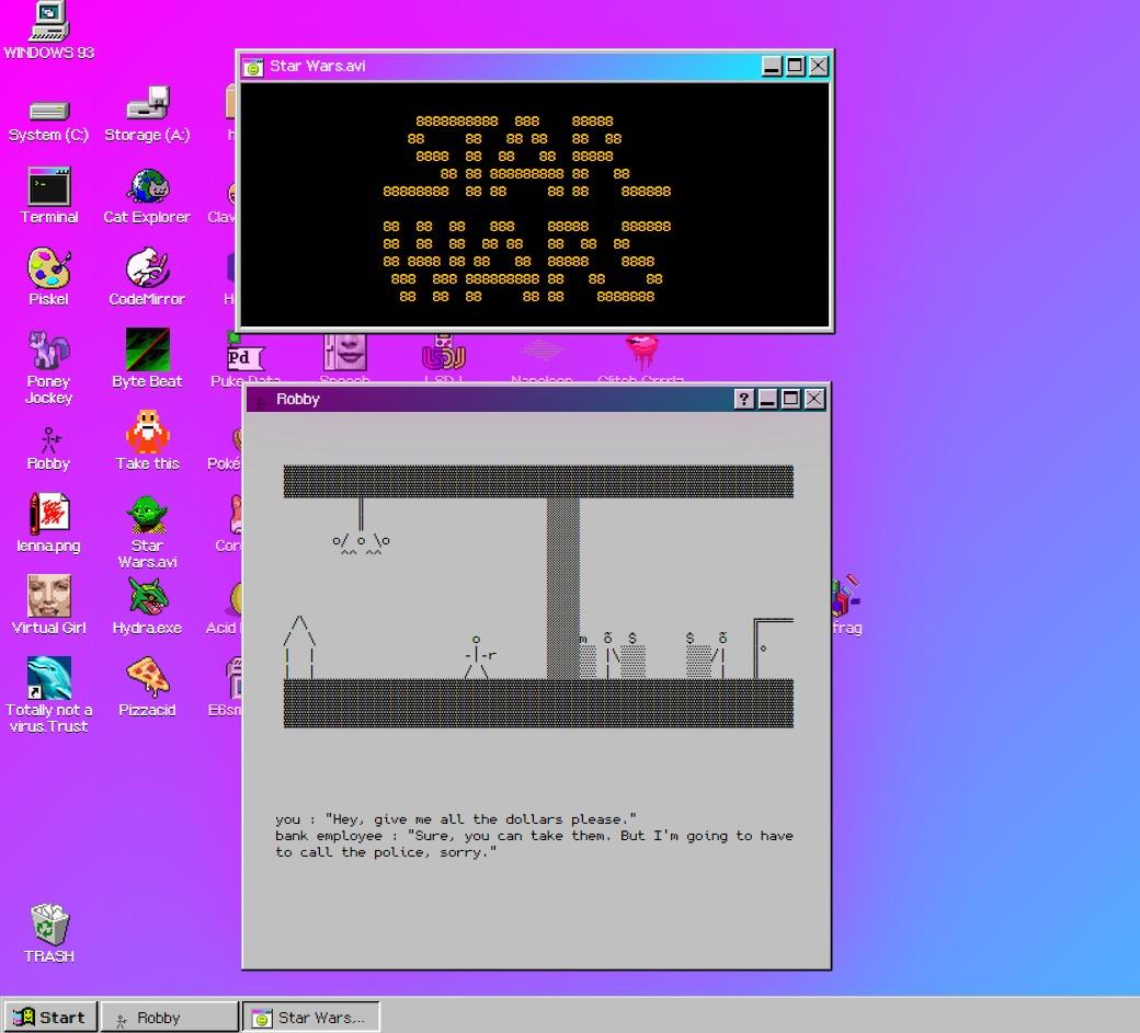 Windows 93 beta - ASCII