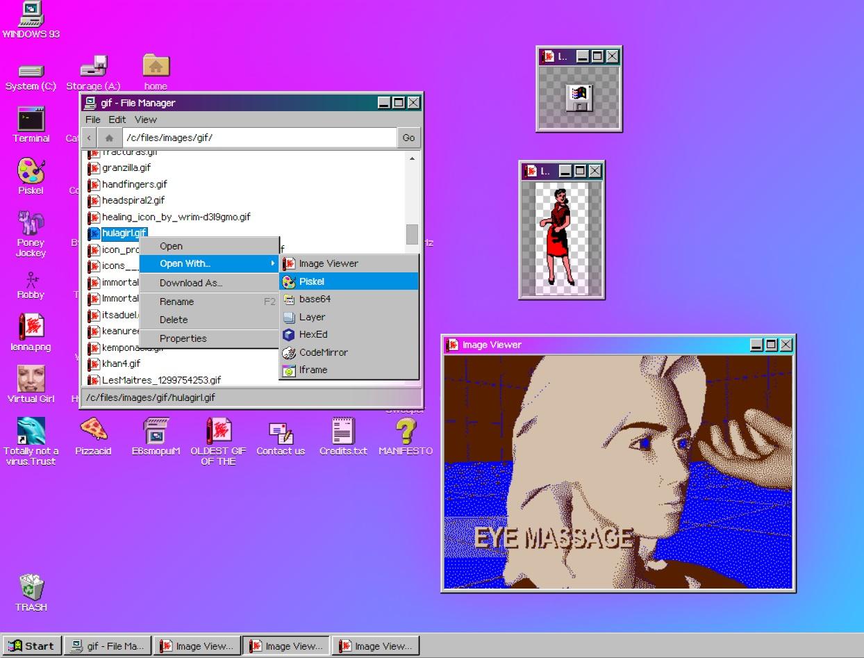 Windows 93 beta - abrir arquivos