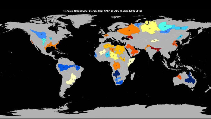 O planeta está perdendo água subterrânea de forma alarmante