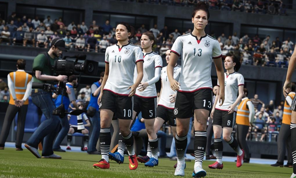 Futebol feminino nos games