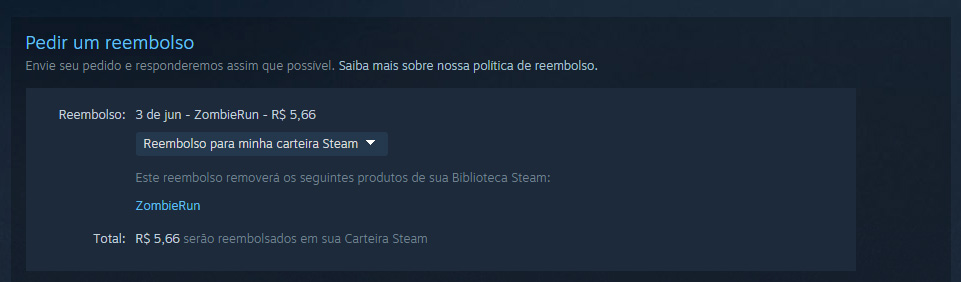Reembolso no Steam