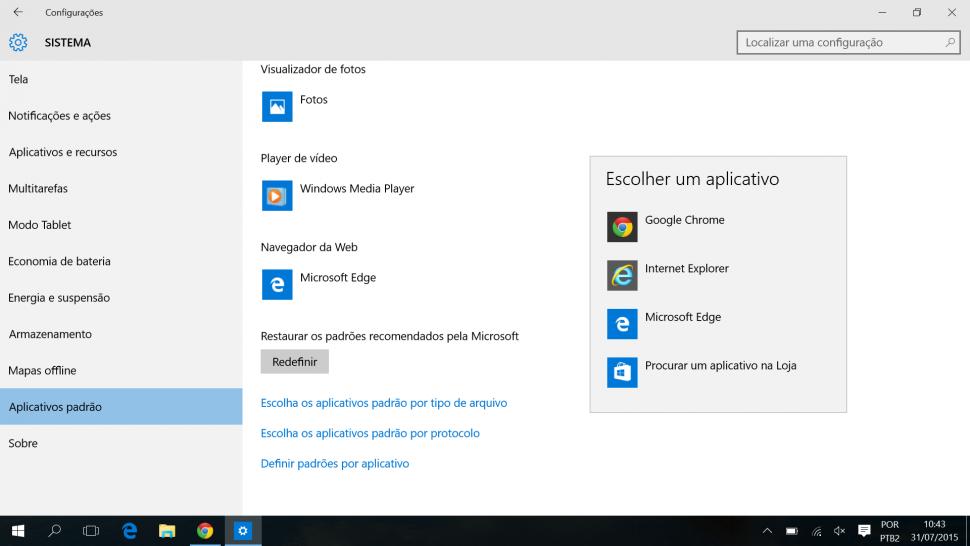 Chrome e mudar padrao no Windows 10 (2)