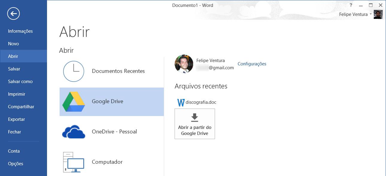 Google Drive no Office