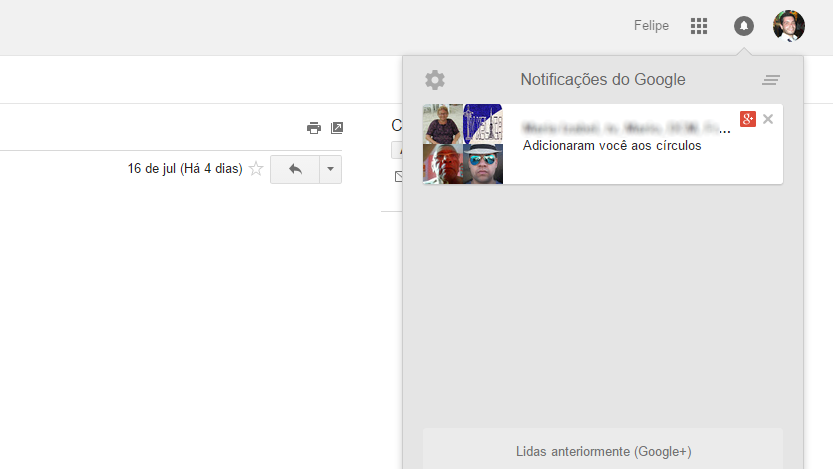 Notificacao G+ no Gmail 3