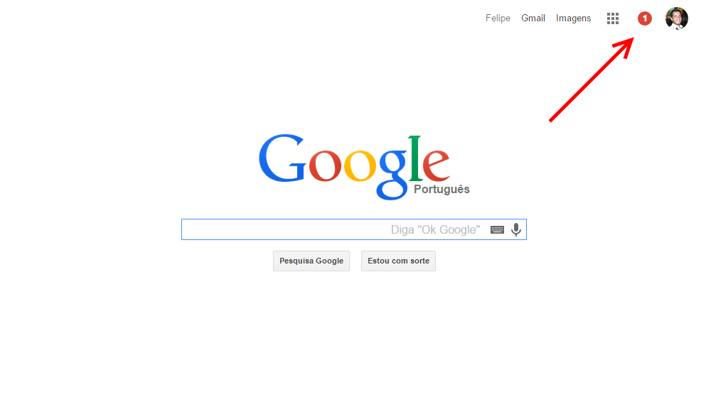 Notificacao G+ no Google