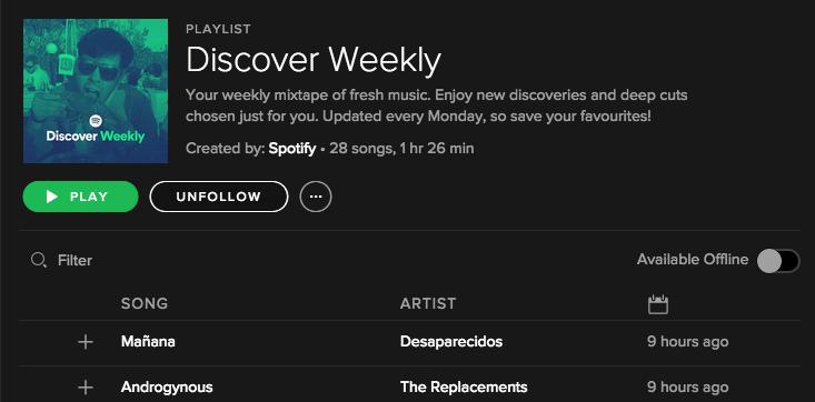Spotify e Discover