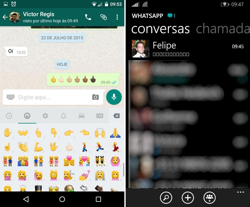 Whatsapp e emoji - erro