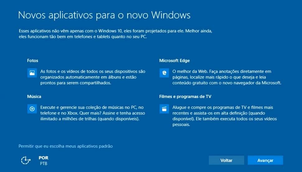 Windows 10 - instalacao e padroes
