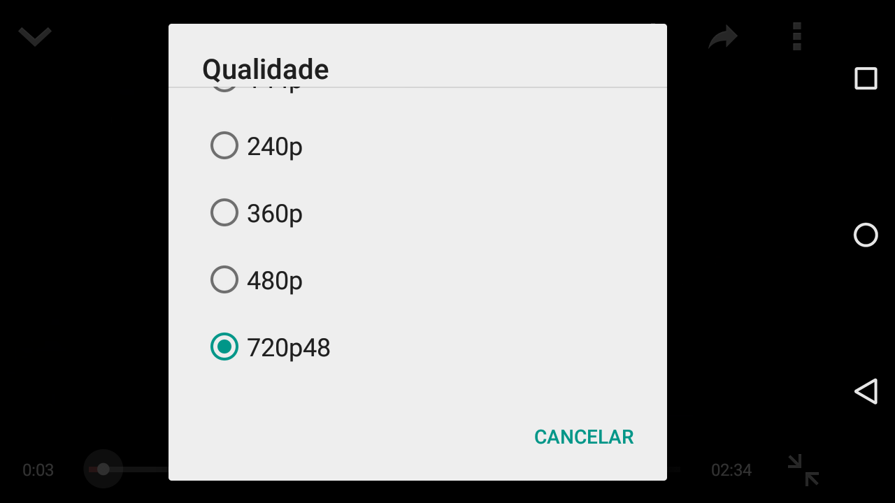 Youtube em 60fps no Android