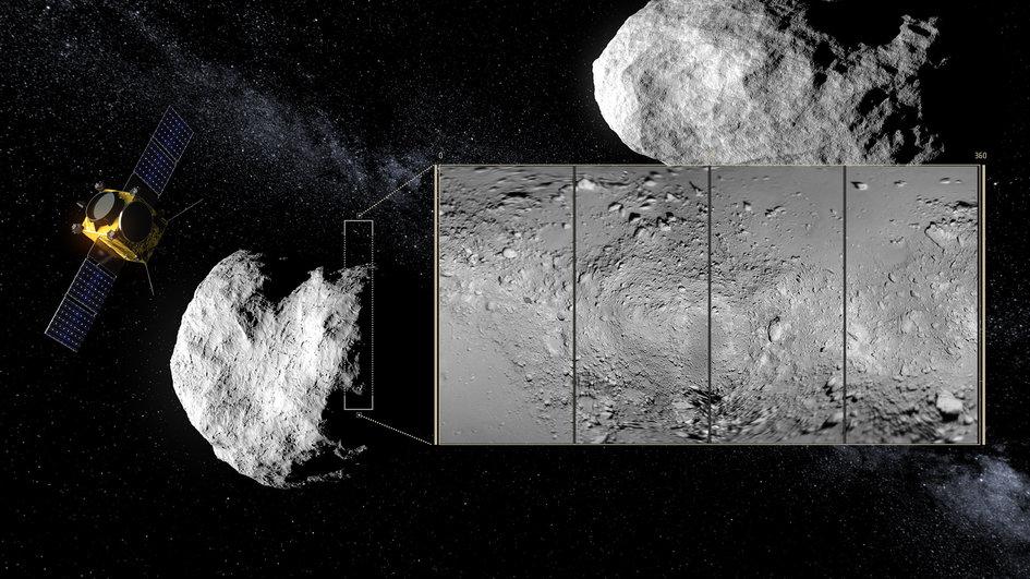 AIM fazendo varredura no asteroide Didymoon