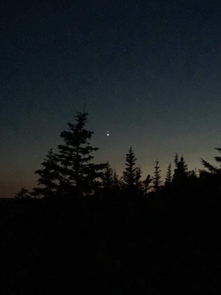 Vênus e Júpiter próximos no céu da Terra