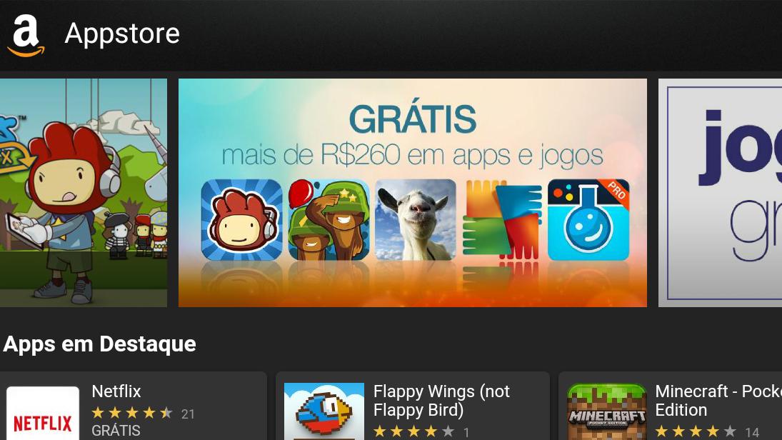 40 apps pagos para Android estão sendo distribuídos gratuitamente pela Amazon