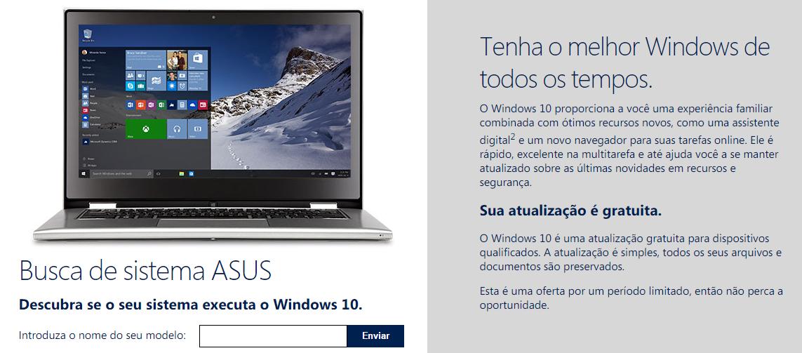 Asus e Windows 10