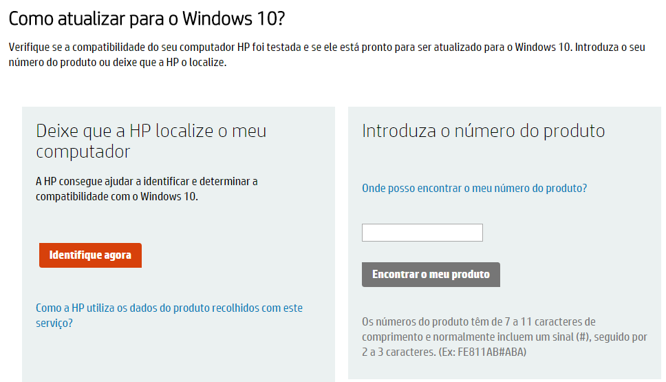 HP e Windows 10