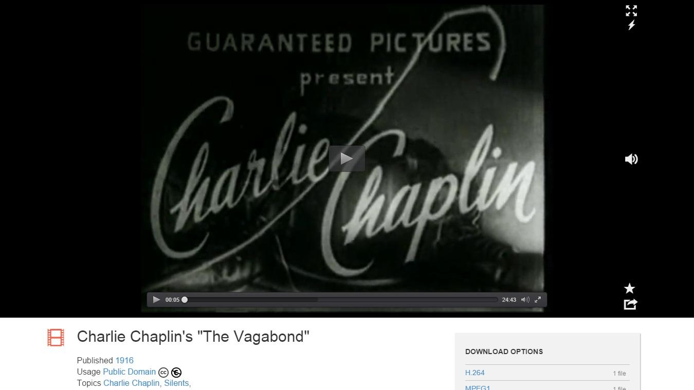 Internet Archive e Charlie Chaplin