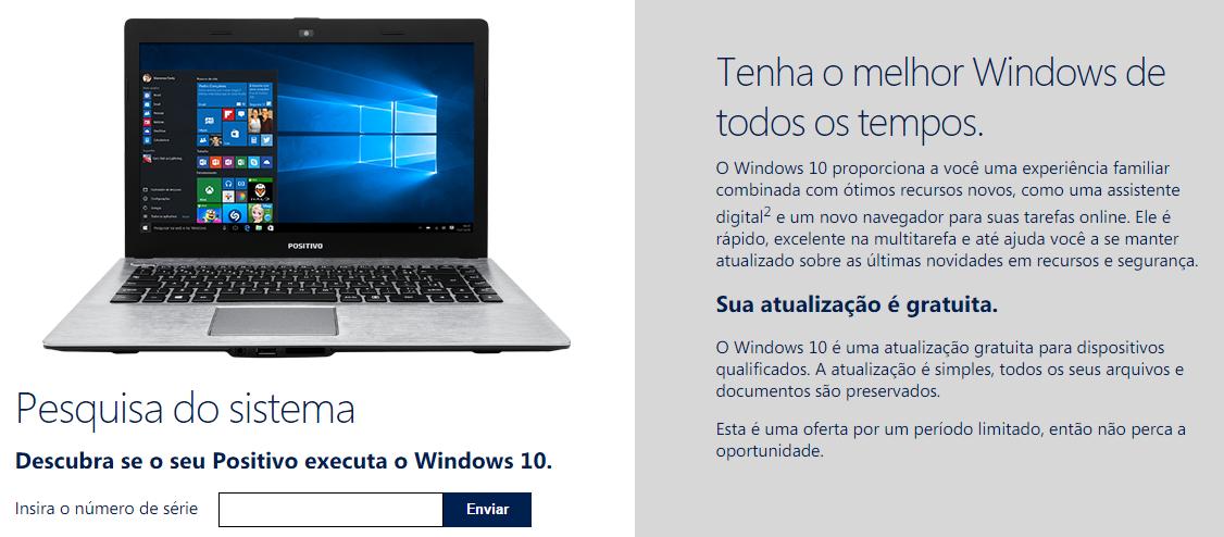 Positivo e Windows 10