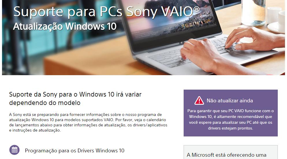 Quais PCs não são compatíveis com a atualização para o