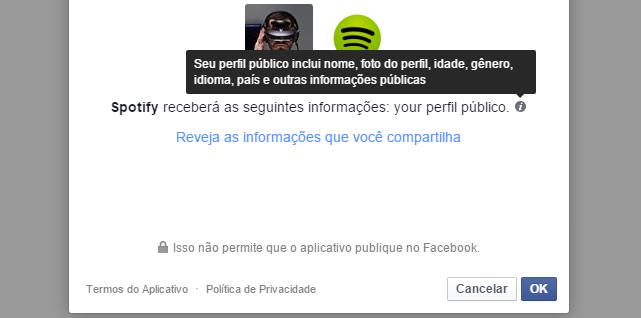 Spotify e Facebook