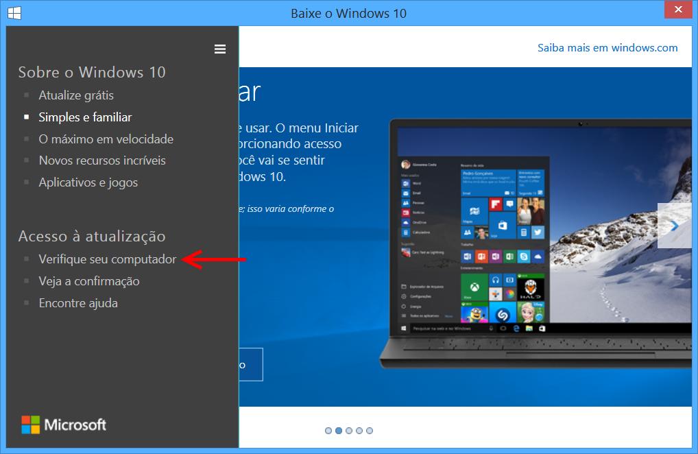 Verifique seu computador - Windows 10