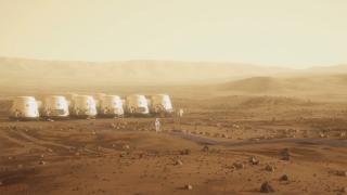 Acampamento em Marte