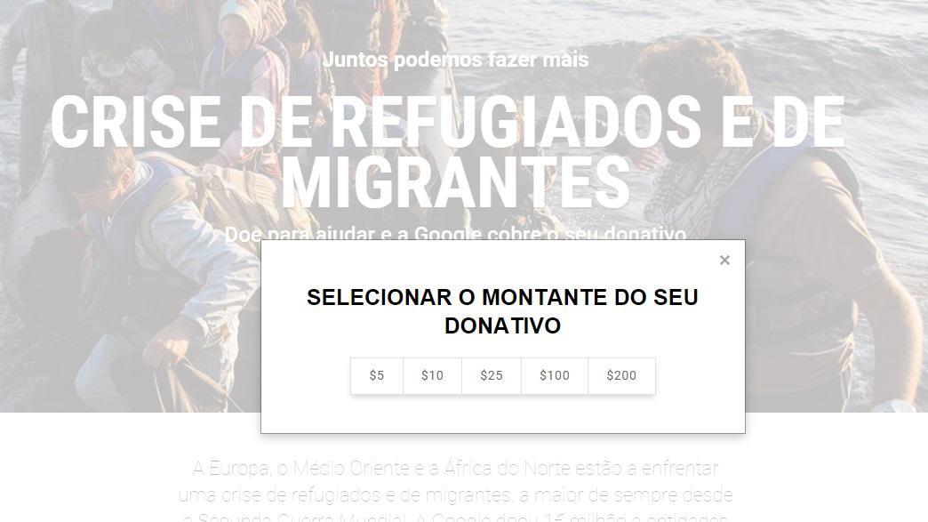 Donativo Google refugiados